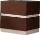 Тумба Мебель-КМК Хилтон 2Я 0651.2 (капучино светлый/мокко глянец) -