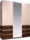 Шкаф Мебель-КМК Хилтон 3Д 0651.8 (капучино светлый/мокко глянец) -