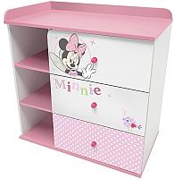 Комод Polini Kids Disney baby 5090 Минни Маус-Фея (белый/розовый) -