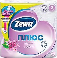 Туалетная бумага Zewa Плюс. Аромат сирени (1x4рул) -