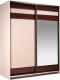 Шкаф Мебель-КМК Хилтон 0651.16 (капучино светлый/мокко глянец) -