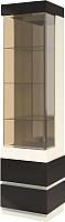 Шкаф-пенал с витриной Мебель-КМК Хилтон 0651.17 правый (капучино светлый/мокко глянец) -
