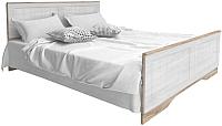 Двуспальная кровать Мебель-КМК 1600 Марсела 0648.10 (дуб юккон/дуб полярный) -