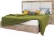 Двуспальная кровать Мебель-КМК 1600 Роксет 0554.8 (дуб юккон/белый глянец) -