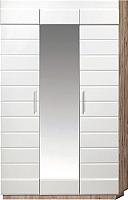Шкаф Мебель-КМК Роксет 3Д 0554.13 (дуб юккон/белый глянцевый) -