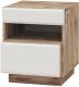 Прикроватная тумба Мебель-КМК Роксет 1Я 0554.7 (дуб юккон/белый глянец) -