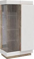 Шкаф с витриной Мебель-КМК Роксет 1 0554.4 правый (дуб юккон/белый глянцевый) -