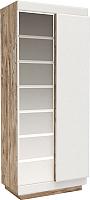 Шкаф Мебель-КМК Роксет 2Д 0554.11 (дуб юккон/белый глянцевый) -