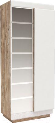 Шкаф Мебель-КМК Роксет 2Д 0554.11 (дуб юккон/белый глянцевый)