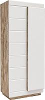 Шкаф Мебель-КМК Роксет 2Д 0554.11-01 (дуб юккон/белый глянцевый) -