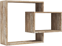 Полка Мебель-КМК Роксет 0554.6 (дуб юккон/белый глянец) -