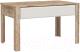 Журнальный столик Мебель-КМК Роксет 0554.9 (дуб юккон/белый глянец) -
