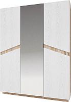 Шкаф Мебель-КМК Лайт 3Д 0551.9 (дуб юккон/дуб полярный) -