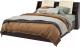 Двуспальная кровать Мебель-КМК 1600 Нирвана 0555.9 (дуб кентерберри т./камень серый) -