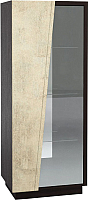Шкаф-пенал с витриной Мебель-КМК Нирвана 0555.4 левый (дуб кентерберри т./камень серый) -