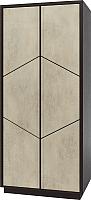 Шкаф Мебель-КМК Нирвана 2Д 0555.6-01 (дуб кентербери/камень серый) -