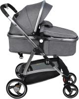Детская универсальная коляска Farfello Pristina (серый) -
