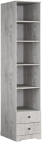 Стеллаж Мебель-КМК 2Я Атланта 0741.6 (бетон пайн светлый) -