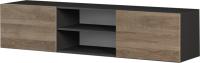 Тумба Мебель-КМК 2Д Альда 0782.6-01 (черный/орландо) -