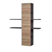 Полка Мебель-КМК Альда 0782.10-01 (черное/орландо) -