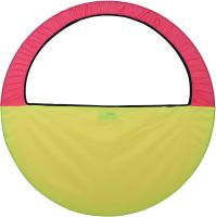 Чехол для гимнастического обруча Indigo SM-083 (желтый/ розовый) -