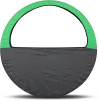 Чехол для гимнастического обруча Indigo SM-083 (салатовый/серый) -