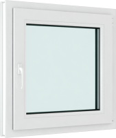 Окно ПВХ Brusbox Elementis Kale Поворотно-откидное правое 3 стекла (700x700x70) -