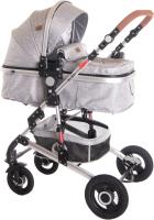 Детская универсальная коляска Lorelli Alba 3 в 1 Light Grey / 10021472061 -