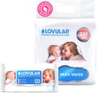Влажные салфетки детские Lovular Hot Wind / 429168 (3x96шт) -