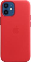 Чехол-накладка Apple Leather Case With MagSafe для iPhone 12 Mini Product Red / MHK73 -