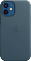 Чехол-накладка Apple Leather Case With MagSafe для iPhone 12 Mini Baltic Blue / MHK83 -
