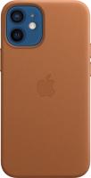 Чехол-накладка Apple Leather Case With MagSafe для iPhone 12 Mini Saddle Brown/MHK93 -