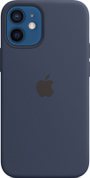 Чехол-накладка Apple Silicone Case with MagSafe для iPhone 12 Mini Deep Navy / MHKU3 -