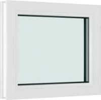 Окно ПВХ Brusbox Глухое 2 стекла (1200х1200х60) -