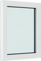 Окно ПВХ Brusbox Глухое 2 стекла (1000х800х60) -