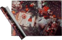 Набор пленки для оформления подарков Vista Christmas Eve 90мкм (50х70, 2 листа) -