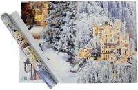 Набор пленки для оформления подарков Vista Снежный замок 90мкм (50х70, 2 листа) -