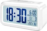 Настольные часы Bresser MyTime Duo LCD / 74602 (белый) -