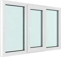 Окно ПВХ Brusbox Elementis Kale Поворотно-откидное створка по середине 3 стекла (1200x1900x70) -