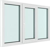 Окно ПВХ Brusbox Elementis Kale Поворотно-откидное створка по середине 3 стекла (2100x1400x70) -
