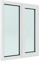 Окно ПВХ Brusbox Roto Двухстворчатое поворотно-откидное правое 3 стекла (1400x1200x70) -