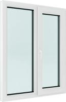 Окно ПВХ Brusbox Roto Двухстворчатое поворотно-откидное правое 3 стекла (1400x1300x70) -