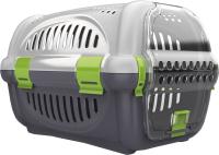 Транспортировочный бокс Beeztees Rhino 715010 (серый/зеленый) -