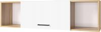 Шкаф навесной Горизонт Мебель Лайт 1200 (белый/дуб золотой) -