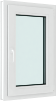 Окно ПВХ Brusbox Roto Одностворчатое Поворотно-откидное правое 3 стекла (600x500x70) -