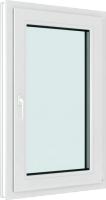 Окно ПВХ Brusbox Roto Одностворчатое Поворотно-откидное правое 3 стекла (1100x900x70) -
