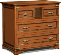Комод Студия К-мебель Марина / СКМ-001-05 (83.8x99x46, кальвадос) -