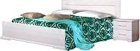 Двуспальная кровать Мебель-КМК Нимфа 0383.2 (бодега/белое серебро) -