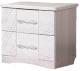 Прикроватная тумба Мебель-КМК Нимфа 0383.4 (бодега/белое серебро) -