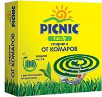 Спирали от комаров PICNIC Family (10шт) -